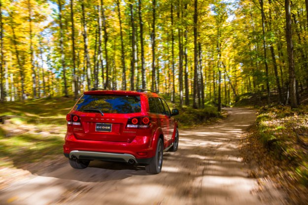 2014-Dodge-Journey-Driving-Rear