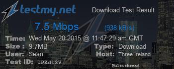 7.5Mbps test result