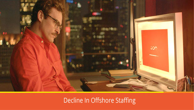 Decline in offshore staffing