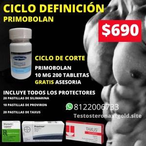 Ciclo de Definición Primobolan oral con Protectores