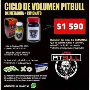 CICLO DE Volumen Cipionato y Oximetalona PITBULL LABS