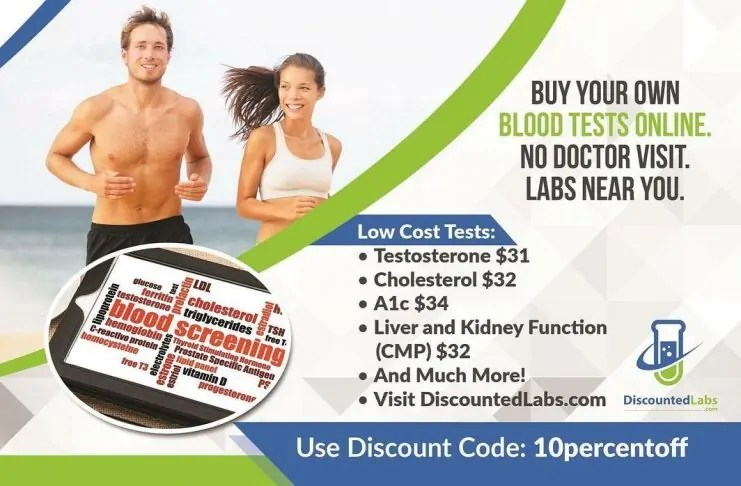 order blood tests online from Discounted Labs