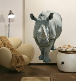 Adhésif géant de rhinocéros http://www.wallsweethome.fr/fr/stickers-muraux/stickers-animaux/sticker-geant-rhinoceros/