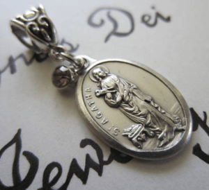 patron saint of nurses jewlery