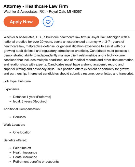 health care attorney job description