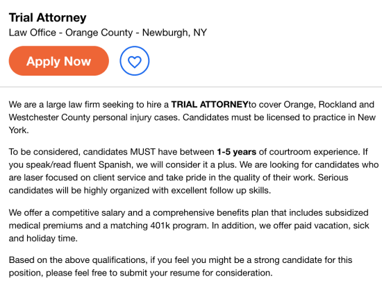 Trial Attorney Job Opening