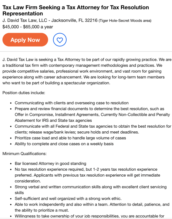 tax attorney job description