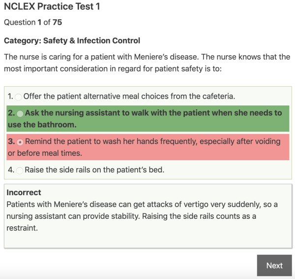 free nclex practice questions