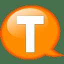 speech-balloon-orange-t-icon