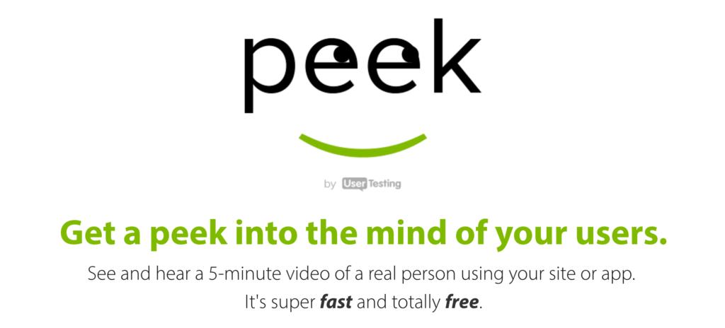 Peek User Testing