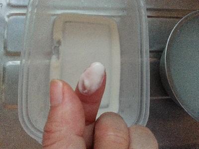 米のとぎ汁洗顔沈殿物