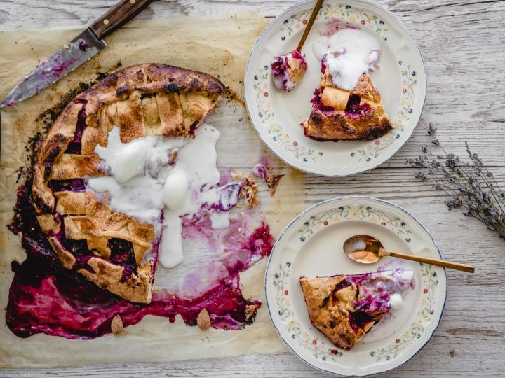 plum galette