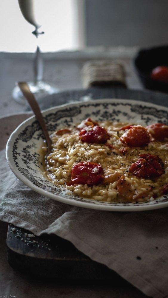 cherry tomato risotto
