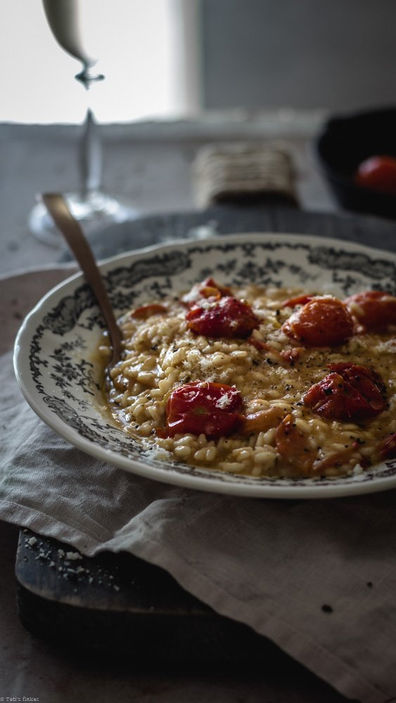 cherry tomato risotto