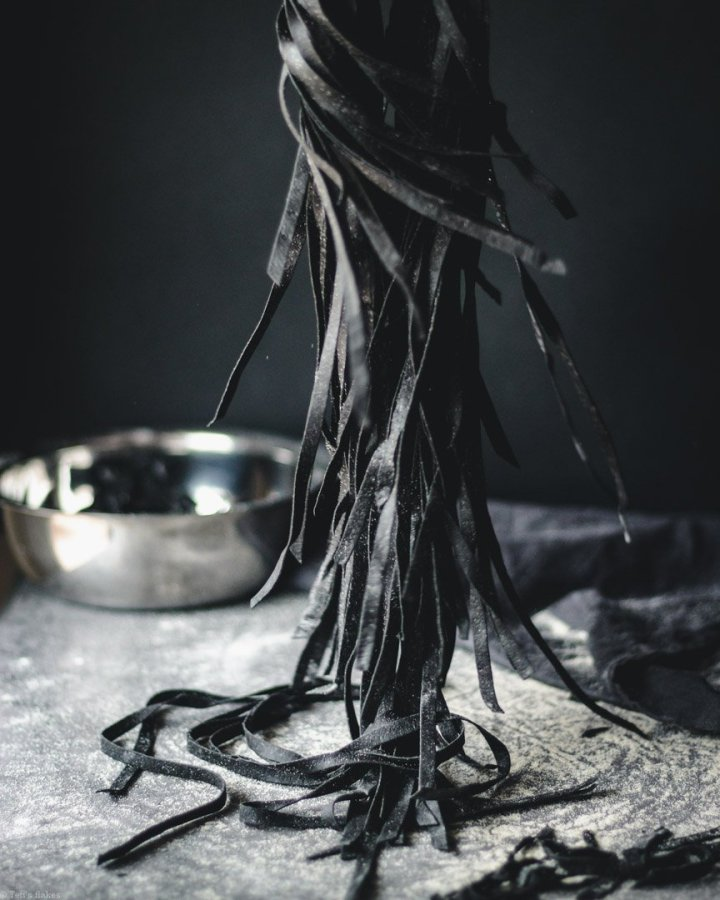 Homemade Cuttlefish Ink Pasta