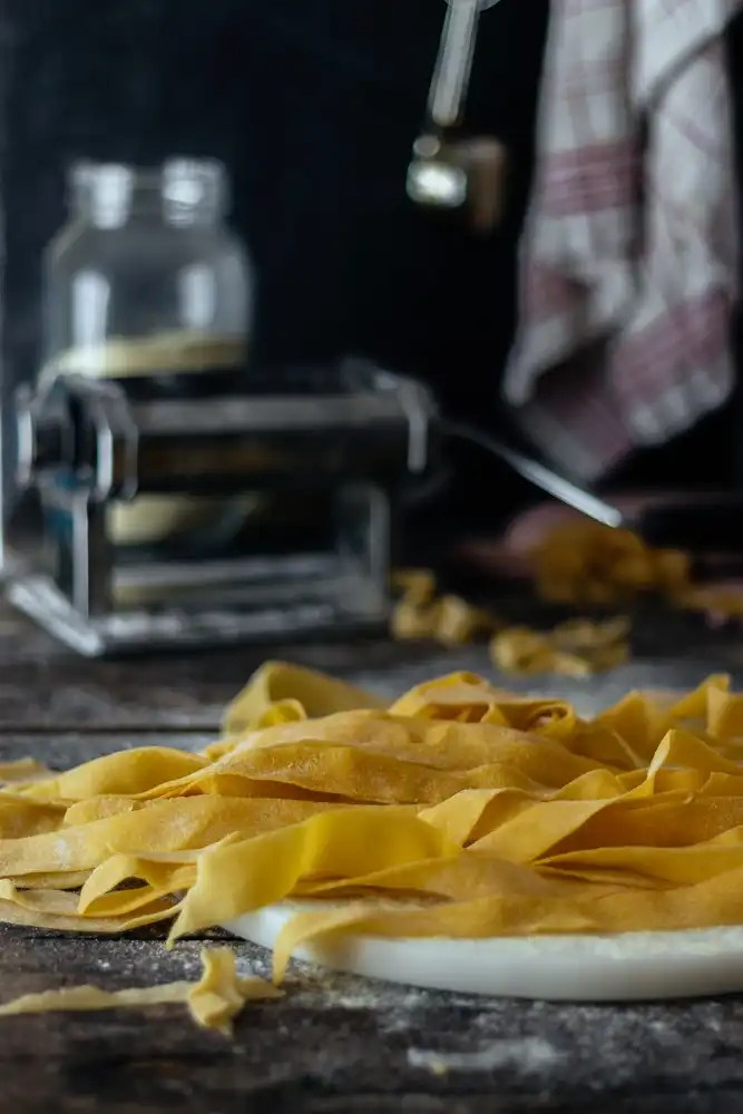 pappardelle with egg yolks