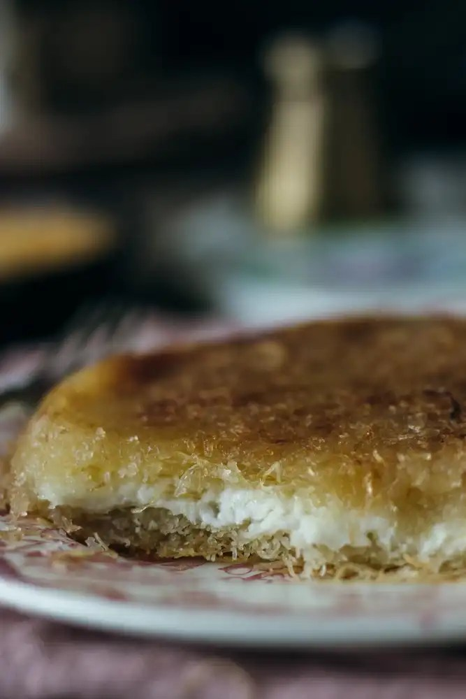 Kanafeh with goat cheese