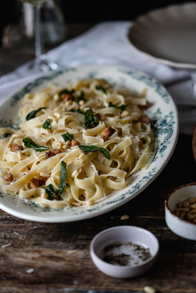 pasta with burnt butter
