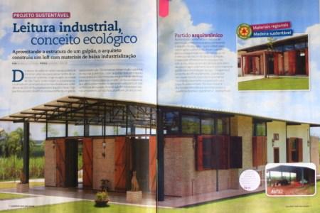 Revista Construir Mais por Menos n° 40, Editora Escala _Seção Jeitos de Morar_Projeto Sustentável_ páginas 36 e 37_Fevereiro de 2014