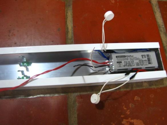 Detalhe da instalação elétrica