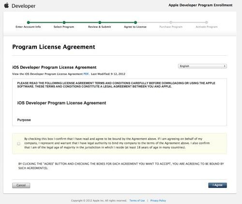 Apple Developer Program Enrollment  License Agreement