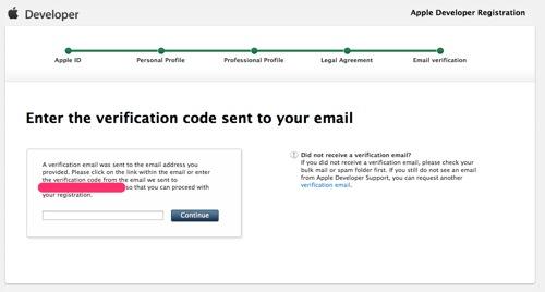 Apple Developer Registration 4