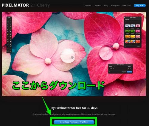 Pixelmatorが半額セール中で1300円ですが、買うのを迷ってる人はとりあえず試用版を使ってみたらいいと思う