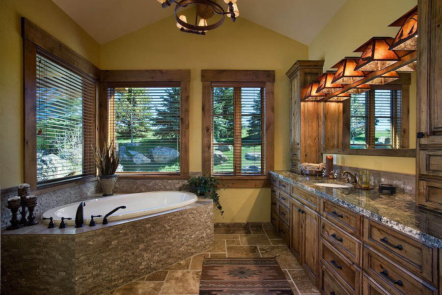 Aerie At Spring Creek Ranch Master Bathroom Teton