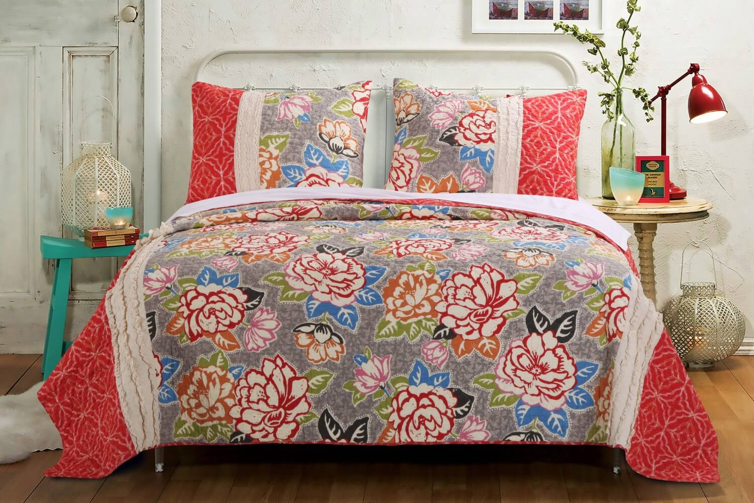 Pink Floral Quilts