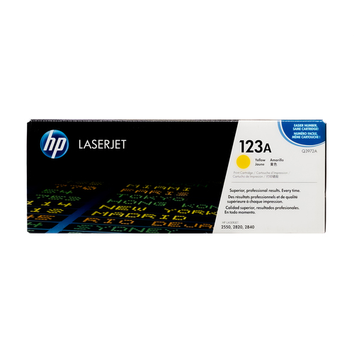 HP 123A Yellow Toner Cartridge