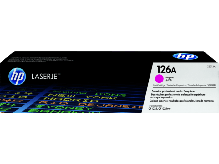 HP 126A Magenta Toner Cartridge CE313A