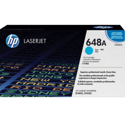 HP 648A Cyan LaserJet Toner Cartridge
