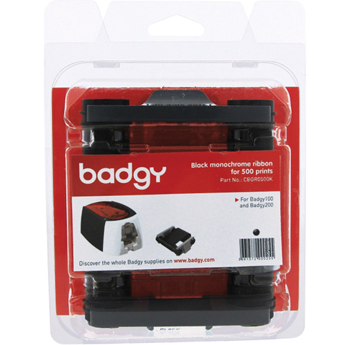 Evolis Badgy black monochrome ribbon