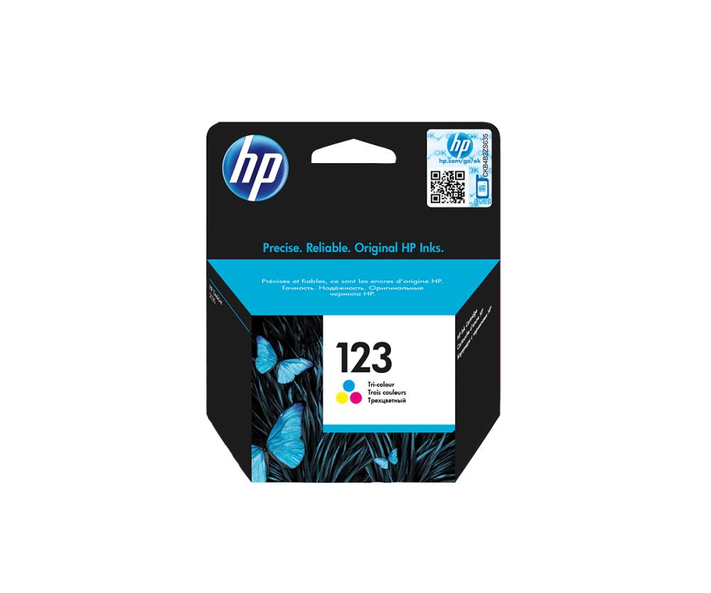 HP 123 Tri-color Ink Cartridge