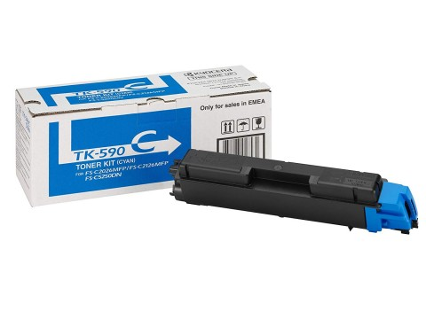 Kyocera TK-590C cyan toner cartridge