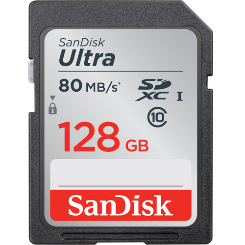 SanDisk 128GB Ultra SDHC Memory Card