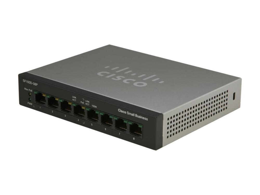 Cisco SF100D-08 8-Port Desktop Switch