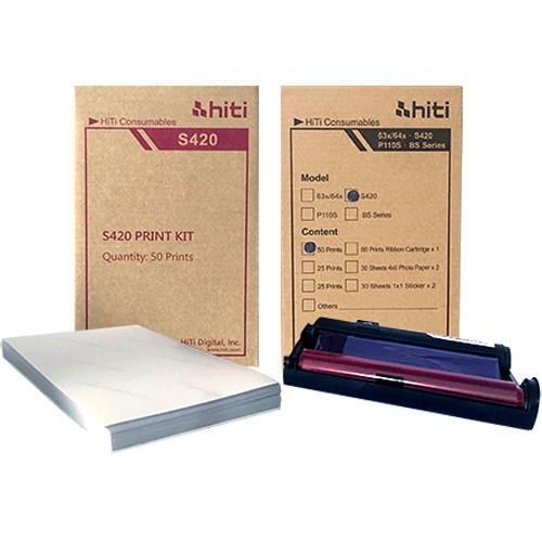 HiTi S420 4x6 Paper Ribbon Media Kit