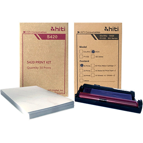 HiTi S420 4x6 Paper Ribbon Media Kit