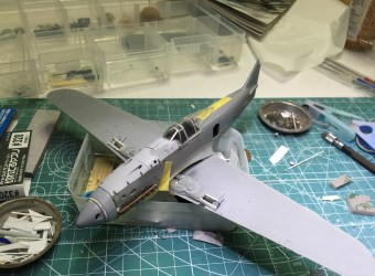1/48 Ki-61ii (Hien) with teardrop canopy – WIP #10