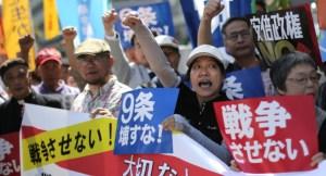 安保法制の反対デモ
