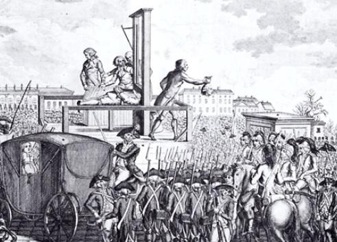 処刑台と観衆