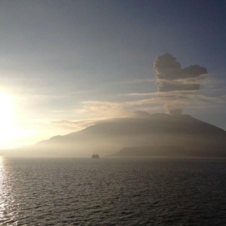 桜島 ハートの噴煙