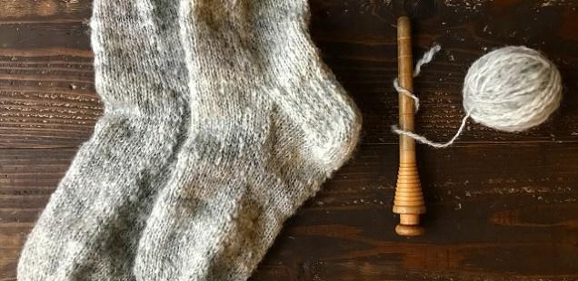 【編み物】靴下できました。