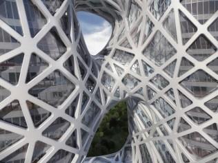 Detalhe da fachada. Imagem © Zaha Hadid Architects; 2014 Melco Crown Entertainment Limited