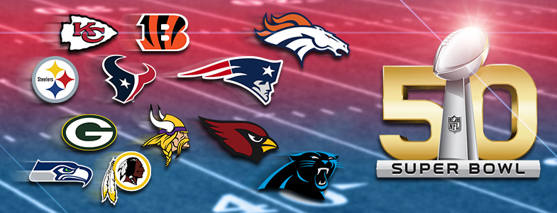 NFL Playoffs 2016 | Super Bowl 50 Headerbild | Football