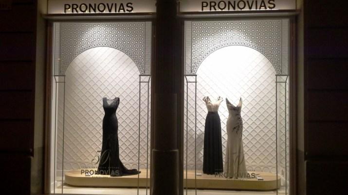 PRONOVIAS SEPTIEMBRE ESCAPARATE TEVIAC ESCAPARATISMO EN BARCELONA (3)