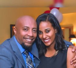 The EBS Seifu Fantahun comedy show host Seifu and his wife Veronica Nuredin