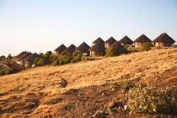 Simien Lodge on top of Simien Mountains of Ethiopia is Africa's highest hotel. It has ten  ...