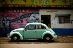 Ethiopian mechanics keep the VW Beetle alive